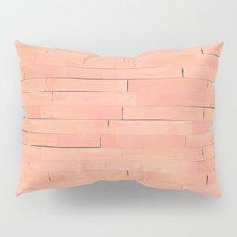 Peach Wooden Planks Wall Pillow Sham