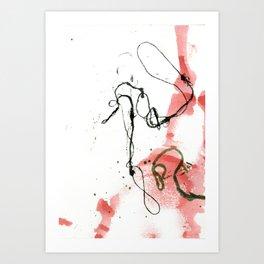 Thread Drawing no. 3 Art Print