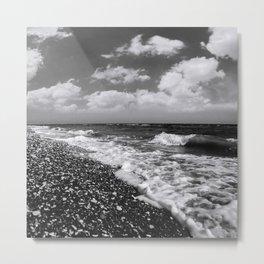 BEACH DAYS XXII BW Metal Print