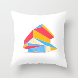 Rem Koolhaas - Seattle Central Library Throw Pillow