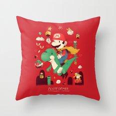 platformer Throw Pillow
