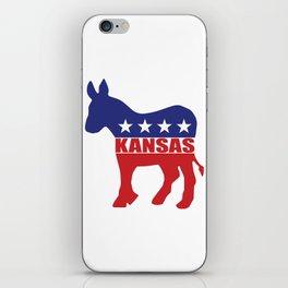 Kansas Democrat Donkey iPhone Skin