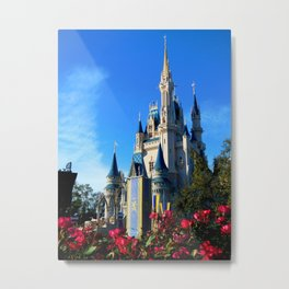 Cinderella's Castle from the Side Metal Print