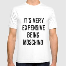 It's Very Expensive Being Moschino MEDIUM Mens Fitted Tee White