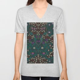 Blackthorn - William Morris Unisex V-Neck