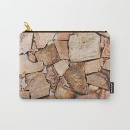 Rough Stone Wall Carry-All Pouch