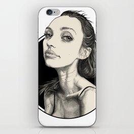 Arina Black Circle iPhone Skin