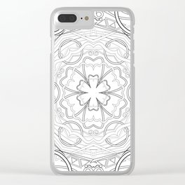 geometric circle ornament Clear iPhone Case