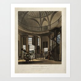 Interior of the  Astronomical Observatory, Radcliffe Observatory, Oxford Art Print