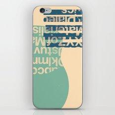 gum letter iPhone Skin