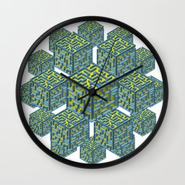 Cubed Mazes Wall Clock