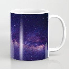 Purple Glitter Star Galaxy Coffee Mug