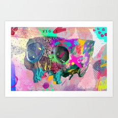 A framework of bone Art Print