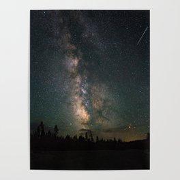 Yellowstone Milky Way Poster