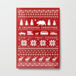 California Christmas Pattern Metal Print