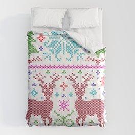 deer ugly christmas Comforters