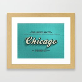 Vintage Chicago Framed Art Print