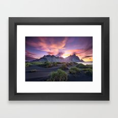 Stokksnes Sunrise Framed Art Print