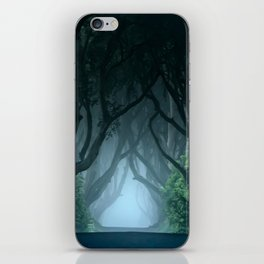 Cold foggy morning in Dark Hedges iPhone Skin