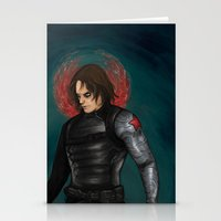 winter soldier Stationery Cards featuring Winter Soldier by toibi