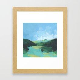 Mini Postcard for July Framed Art Print