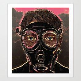 INFERNO MASK DOWNFALL Art Print
