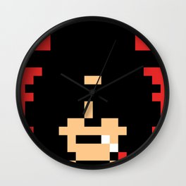 Slash Guitar God minimal pixel art Wall Clock