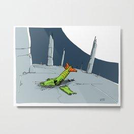 Crashed Metal Print