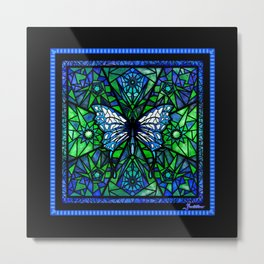 Glass Butterfly Metal Print