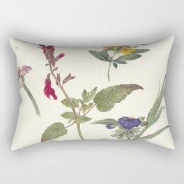 Pieter Ernst Hendrik Praetorius - Studies of wild flowers (1837) Rectangular Pillow
