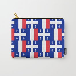 Mix of flag: France and Quebec Carry-All Pouch