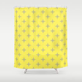 Ornamental Pattern with Lemon and Grey Yellow Colourway Shower Curtain