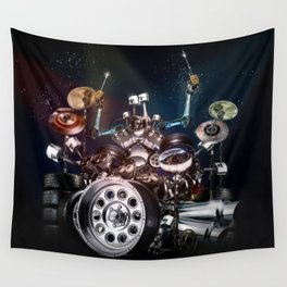 Drum Machine - The Band's Engine Wall Tapestry