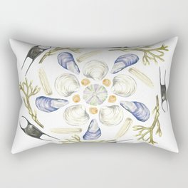 Tide Pool Beach Mandala 1 - Watercolor Rectangular Pillow