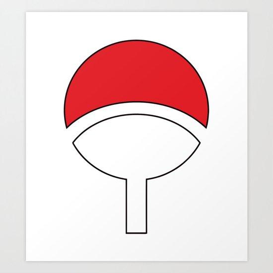 Uchiha Clan Symbol Art Print By Numb9 Society6