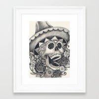 dia de los muertos Framed Art Prints featuring Dia de Los Muertos by afzucatti