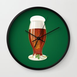 Beer. Happy St. Patrick's Day! Wall Clock