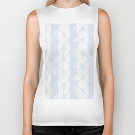 Simply Braided Chevron Sky Blue on Lunar Gray Biker Tank