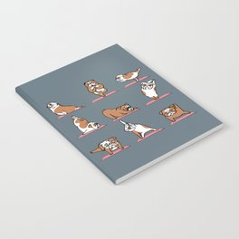 English Bulldog Yoga Notebook
