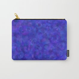 Royal Blue Floral Abstract Carry-All Pouch