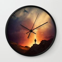 At the edge of the World  Wall Clock