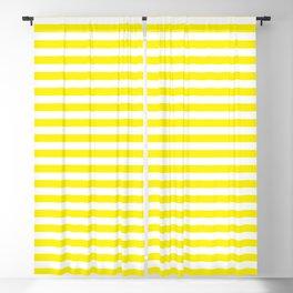 Small Horizontal Yellow Stripes Blackout Curtain