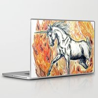 unicorn Laptop & iPad Skins featuring Unicorn by Stephanie Stonato