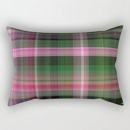 Pink Roses in Anzures 1 Plaid 1 Rectangular Pillow