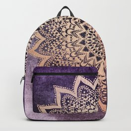 GOLD NIGHTS MANDALA IN PURPLE Backpack
