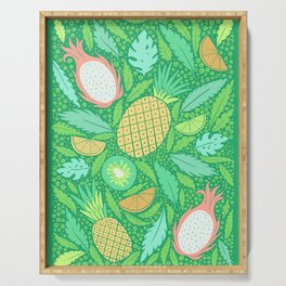 Summer Fruit on Green Serving Tray
