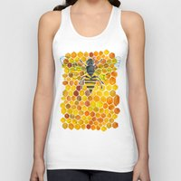honeycomb Tank Tops featuring Bee & Honeycomb by Cat Coquillette