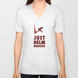 JUST HELM BREAKER RED Unisex V-Neck