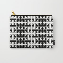 Black and White Greek Key Pattern Carry-All Pouch