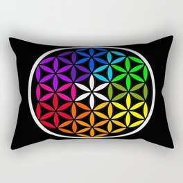Secret flower of life Rectangular Pillow